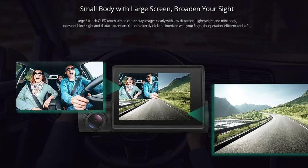 Alfawise LS02 Первый обзор: Видеорегистратор с двумя камерами от Sony
