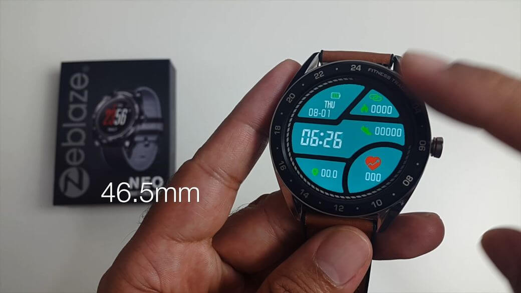 Zeblaze NEO Обзор: Фитнес часы с 1,3 дюймовым IPS экраном и IP67