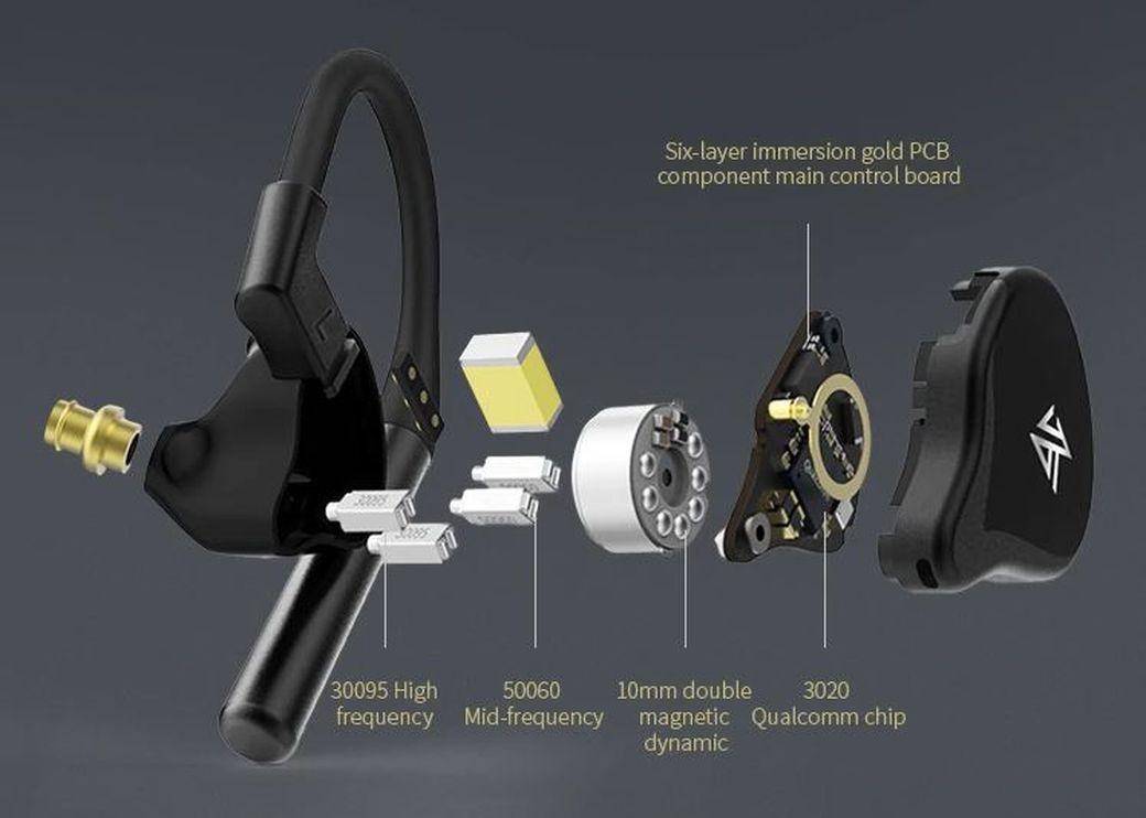 KZ E10 Обзор: 10 драйверов с Qualcomm QCC3020 и aptX