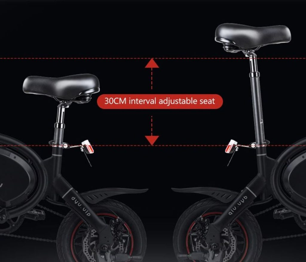 DYU D3+ - Электрический байк с 240 Вт мотором и авиационным сплавом рамы
