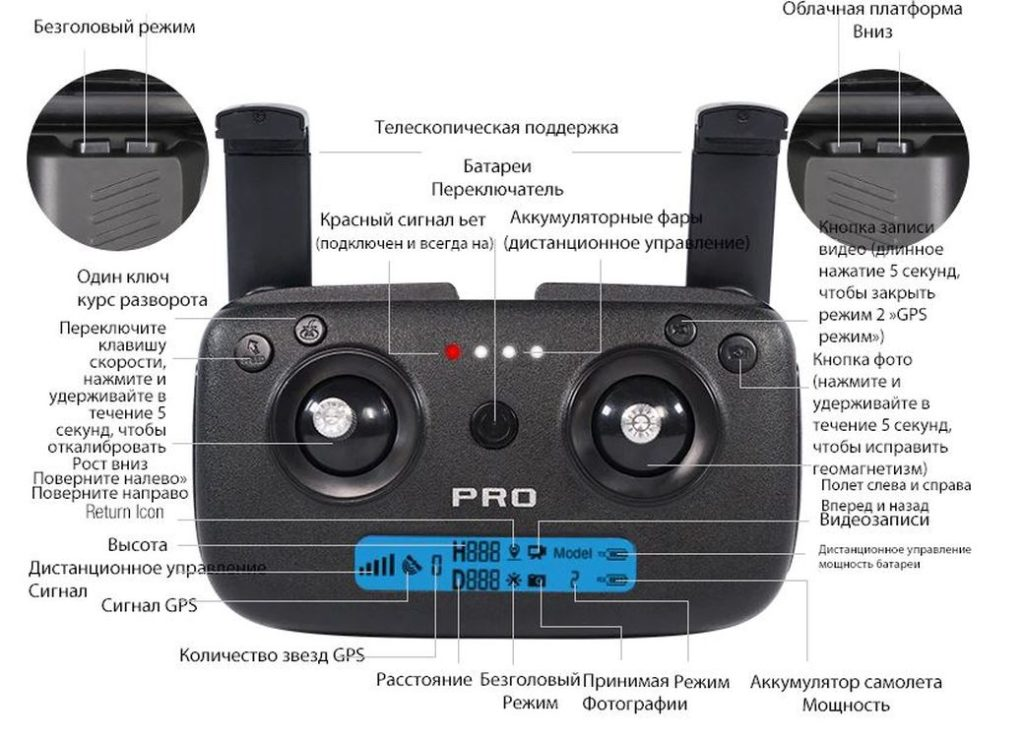 ZLRC SG906 Pro - Недорогой квадрокоптер с 4К разрешением 2020 года
