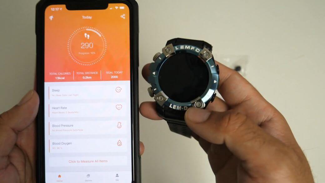 LEMFO LEMD Обзор: Большие умные часы с TWS наушниками