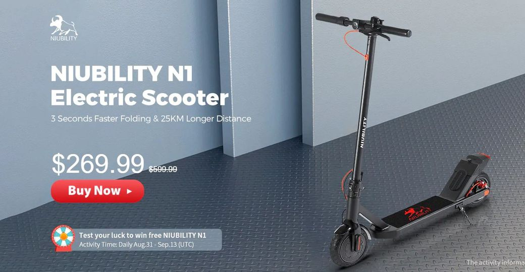 NIUBILITY N1 Обзор: Доступный электросамокат за $270