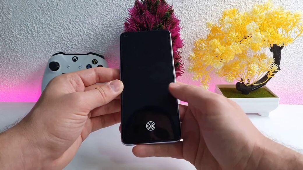 Сканер отпечатков пальцев на Realme Q2 Pro