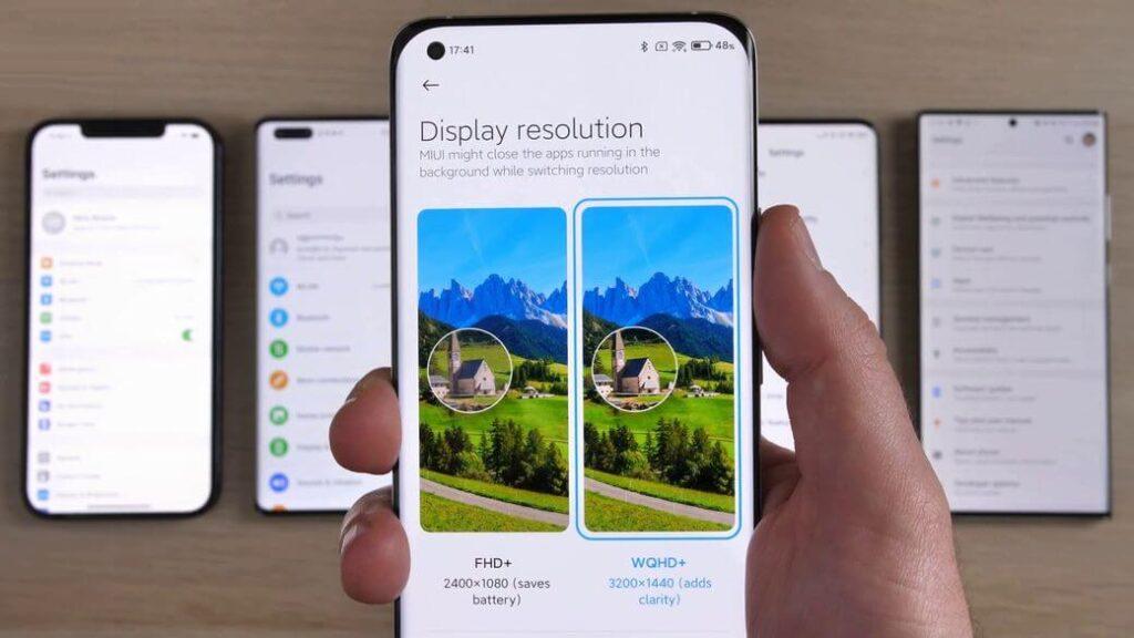 Xiaomi Mi 11 настройки экрана