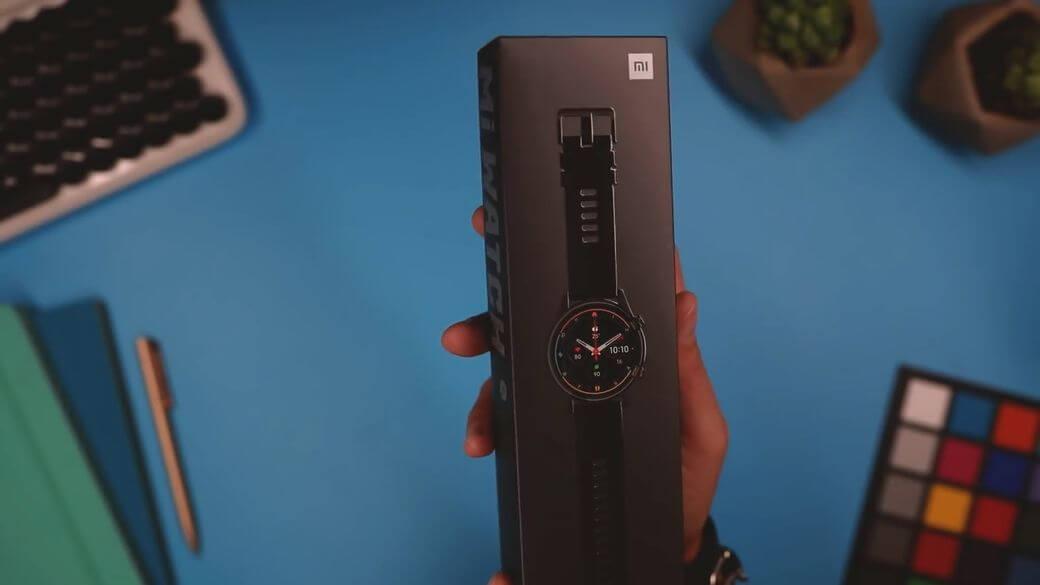 Упаковка Xiaomi Mi Watch Global Глобальная версия 2021