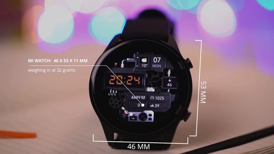 габариты и вес Xiaomi Mi Watch Global Глобальная версия 2021