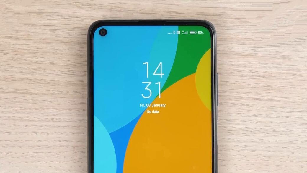 Xiaomi Redmi Note 9T 5G фронтальная камера