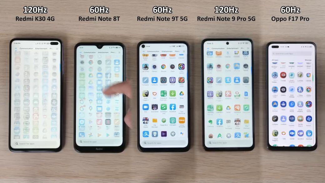 Xiaomi Redmi Note 9T 5G частота обновления экрана