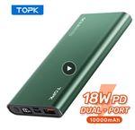 TOPK Power Bank 10000мАч со скидкой 40%