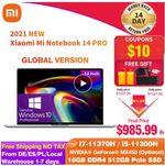 Xiaomi Mi Notebook Pro 14 со скидкой 21%